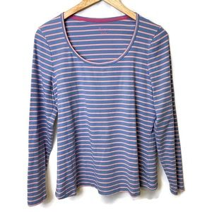 Boden Essential Scoopneck Long Sleeve Top Size 16